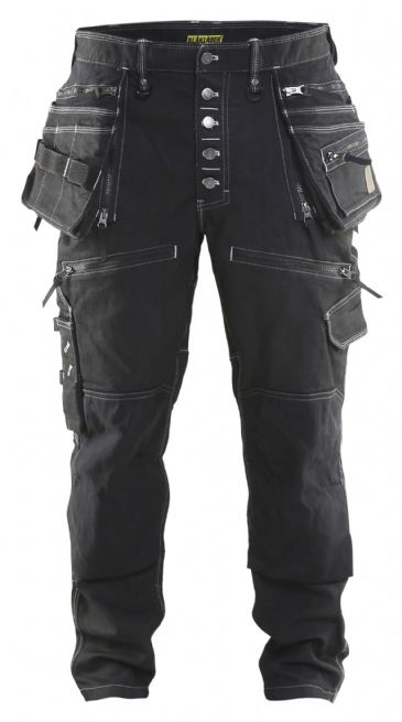 Blaklader X1900 Craftsman Stretch Trousers Denim/Cordura (Black)X1999